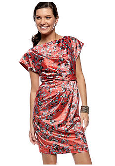 Vince Camuto Floral Sleeveless Dress  - Belk.com :  beautiful dresses lovely dresses vince camuto floral sleeveless dress women