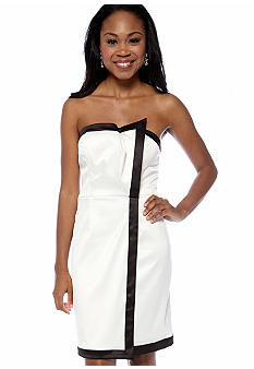 Vince Camuto Strapless Faux Wrap Dress