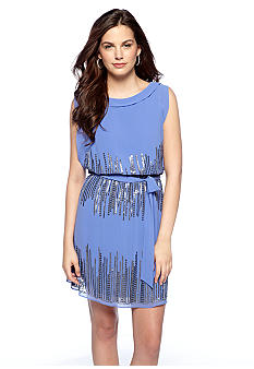 Vince Camuto Sleeveless Blouson Dress with Sequin