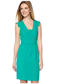 Vince Camuto Cap Sleeved Open Seam Dress