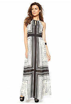 Vince Camuto Halter Printed Maxi Dress