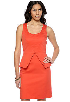 Vince Camuto Sleeveless Peplum Sheath Dress