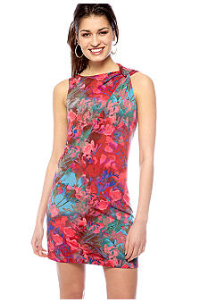 Vince Camuto Sleeveless Printed Shift Dress