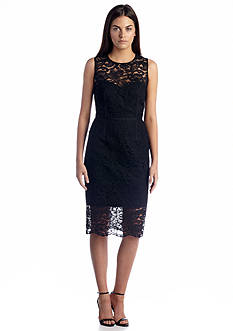 Vince Camuto Sleeveless Allover Lace Sheath Dress