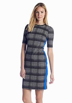Vince Camuto Elbow Sleeve Printed Sheath Dress