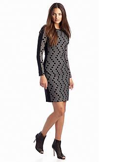 Vince Camuto Printed Body-con Sheath Dress
