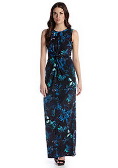 Vince Camuto Sleeveless Floral Print Maxi