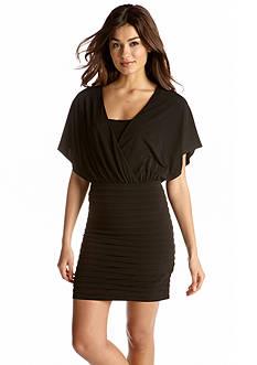 Vince Camuto Short-Sleeved Blouson Dress