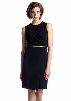 Vince Camuto Sleeveless Crepe Sheath Dress
