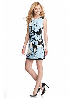 Vince Camuto Floral Printed Scuba Sheath Dress