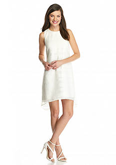 Vince Camuto Organza High Low Hem Shift Dress