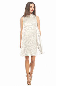Vince Camuto Burnout Jersey Overlay Dress