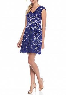 Vince Camuto Lace Fit and Flare Dress