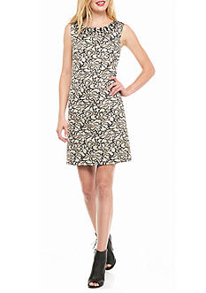 Vince Camuto Jacquard Printed Sheath Dress