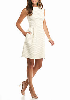 Vince Camuto Jacquard Fit and Flare Dress