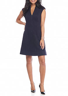 Vince Camuto Jacquard Knit Fit and Flare Dress