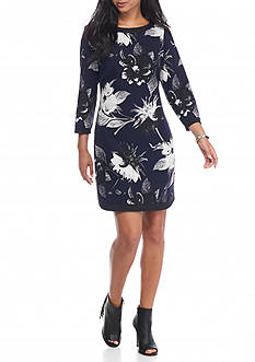 Vince Camuto Floral Printed Shift Dress