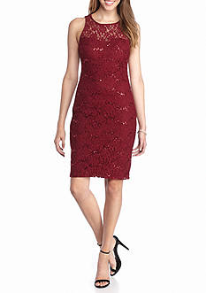 sequin hearts Floral Lace Sheath Dress