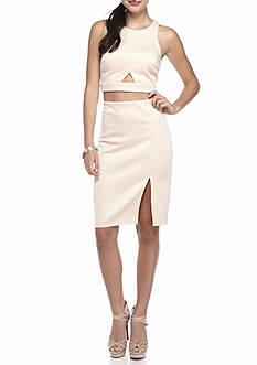 sequin hearts Two-Piece Glitter Skirt Set