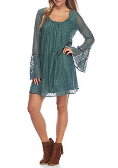 sequin hearts All Over Lace Dress