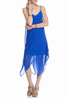 My Michelle Chiffon Hanky Hem Slip Dress