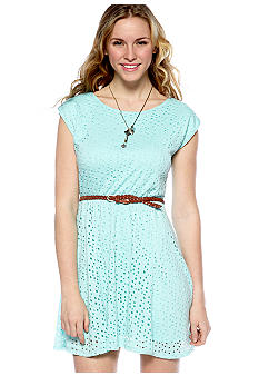 My Michelle Short Sleeve Bow Back Knit Dress