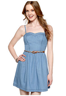 My Michelle Washed Denim Skater Dress