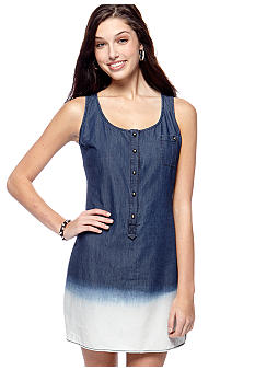 My Michelle Sleeveless Denim Sheath Dress