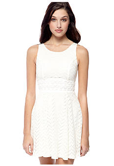 My Michelle Sleeveless Zig Zag Knit Dress