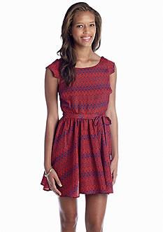 My Michelle Diamond Chevron Dress
