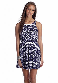 My Michelle Tribal Print Bow Back Dress