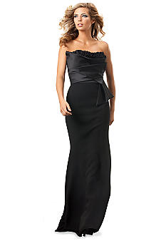 JS Collections Strapless Satin Gown