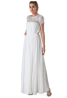 JS Collections Short Sleeve Chiffon Gown