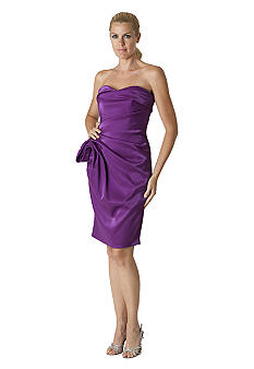 JS Collections Strapless Cocktail Dress