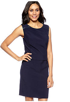 Evan-Picone Dress Zipper Accent Sheath Dress