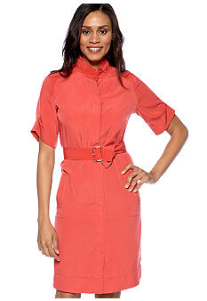 Evan-Picone Dress Belted Shirtdress