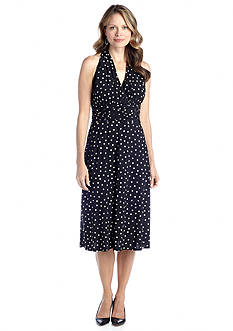 K Kasper by Evan Picone Fit and Flare Halter Dress