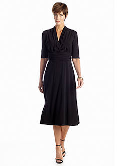 K Kasper by Evan Picone Elbow Sleeve Aline Dress