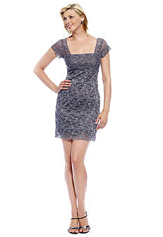 Jump Stretch Sequin Lace Dress