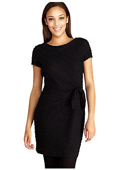 Donna Morgan Cap Sleeve Dress with Side Tie