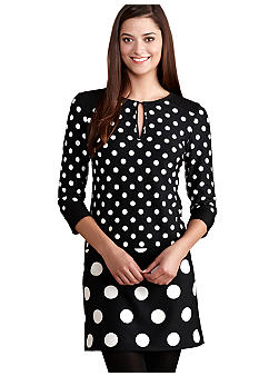 Donna Morgan Drop Waist Dot Dress
