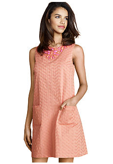Donna Morgan Sleeveless Shift Dress with Beading