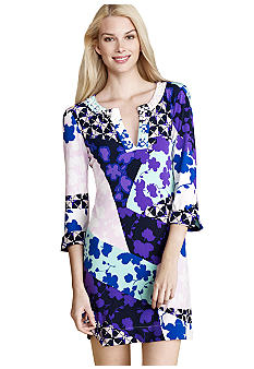 Donna Morgan Three-Quarter Sleeved Printed Sheath Dress