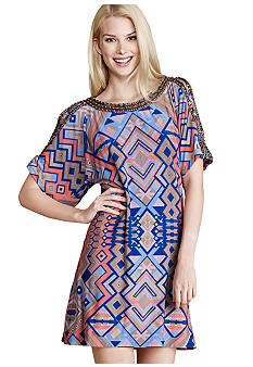 Donna Morgan Dolman Cold Shoulder Shift Dress