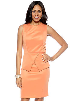 Donna Morgan Sleeveless Peplum Sheath Dress