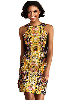 Donna Morgan Sleeveless Floral Printed Sheath Dress
