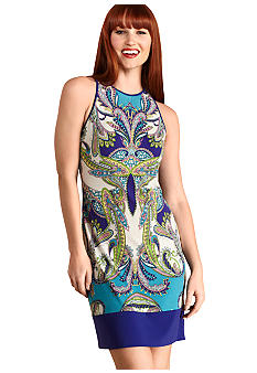 Donna Morgan Sleeveless Printed Sheath Dress