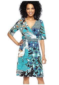 Donna Morgan Printed Wrap Dress