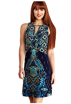 Donna Morgan Sleeveless Fit and Flare Printed Dress