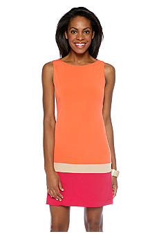Donna Morgan Sleeveless Color Block Shift Dress